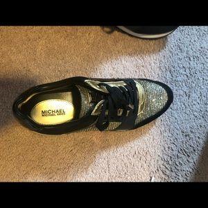 Golden black Michael kors sneakers